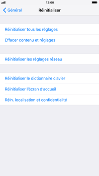 Apple iPhone 6 Plus - iOS 11 - Device maintenance - Retour aux réglages usine - Étape 6