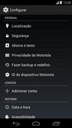 Motorola Moto E (1st Gen) (Kitkat) - Funções básicas - Como restaurar as configurações originais do seu aparelho - Etapa 4