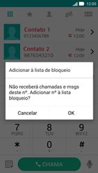 Asus Zenfone 2 - Chamadas - Como bloquear chamadas de um número específico - Etapa 6