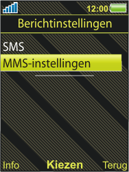 Sony Ericsson W995 - MMS - handmatig instellen - Stap 5