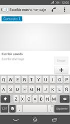 Sony Xperia E4g - Mensajería - Escribir y enviar un mensaje multimedia - Paso 9