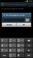 Samsung I9300 Galaxy S III - Messagerie vocale - Configuration manuelle - Étape 7