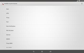 Sony Xperia Tablet Z2 (SGP521) - Internet - configuration manuelle - Étape 10