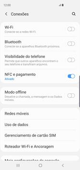 Samsung Galaxy S10 - Rede móvel - Como ativar e desativar uma rede de dados - Etapa 5