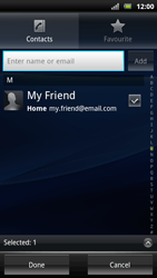 Sony Ericsson Xperia Arc S - Email - sending an email message - Step 7