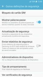 Samsung Galaxy S7 - Segurança - Como ativar o código PIN do cartão de telemóvel -  6