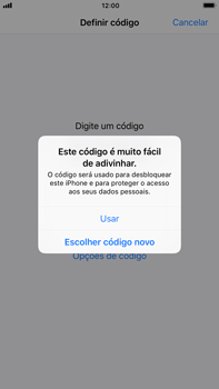 Apple iPhone 7 Plus iOS 11 - Segurança - Como ativar o código de bloqueio do ecrã -  8