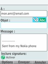 Nokia 301-1 - E-mail - Envoi d