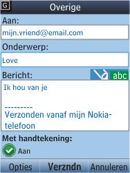 Nokia C2-05 - E-mail - E-mail versturen - Stap 11