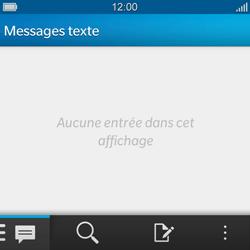 BlackBerry Q10 - SMS - configuration manuelle - Étape 3