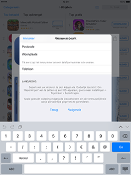 Apple iPad Mini 3 iOS 10 - Applicaties - Account instellen - Stap 21