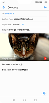 Huawei P20 Lite - E-mail - Sending emails - Step 15