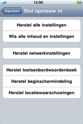 Apple iPhone 4 - Probleem oplossen - Toestel resetten - Stap 5