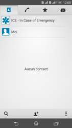 Sony Xperia E4g - Contact, Appels, SMS/MMS - Ajouter un contact - Étape 4
