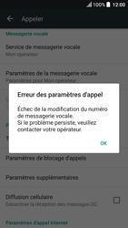 HTC U Play - Messagerie vocale - Configuration manuelle - Étape 8