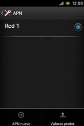 Sony Xperia E - Mensajería - Configurar el equipo para mensajes multimedia - Paso 8