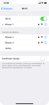 Apple iPhone XS - Wifi - configuration manuelle - Étape 6