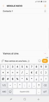 Samsung Galaxy Note 8 - Mensajería - Escribir y enviar un mensaje multimedia - Paso 12